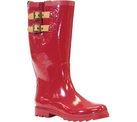 Chooka Women's Shiny Tall Rain Boots, in Crimson Red, Size 10