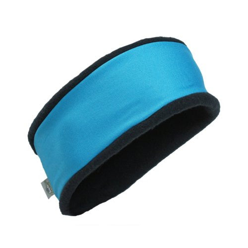 Original Turtle Fur Fleece - Bandula, Heavyweight Headband, Cyan/Black