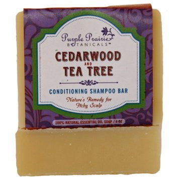 Cedarwood & Tea Tree Shampoo Bar Soap - 4oz - Pack of 3