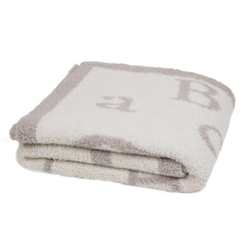 Cozychic ABC Blanket Stone/Cream 30x40