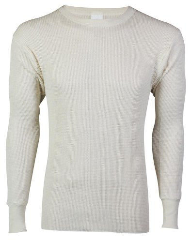 MENS TOPS 9.1 OZ. 50/50 WAFFLE NATURAL - 4XL