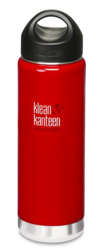Klean Kanteen Wide Mouth Insulated Water Bottle with Loop Cap,20 Ounces,Sangria Red