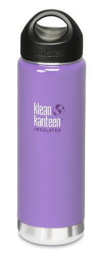 Klean Kanteen Wide Mouth Insulated Water Bottle with Loop Cap,20 Ounces,Lavender Tea
