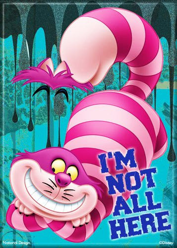 Disney- Not All Here- Cheshire Cat - PHOTO MAGNET 2 1/2 in. x 3 1/2 in.