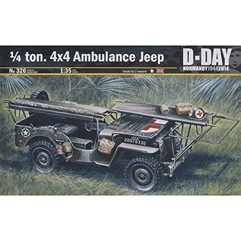 1/4-ton 4x4 Ambulance Jeep 1/35 Kit
