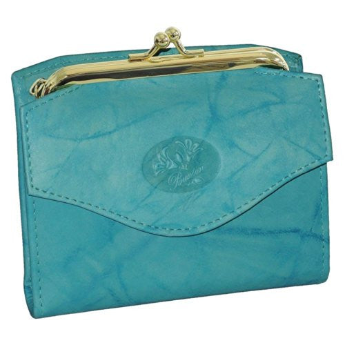 Buxton Heiress French Purse (Bright Aqua)
