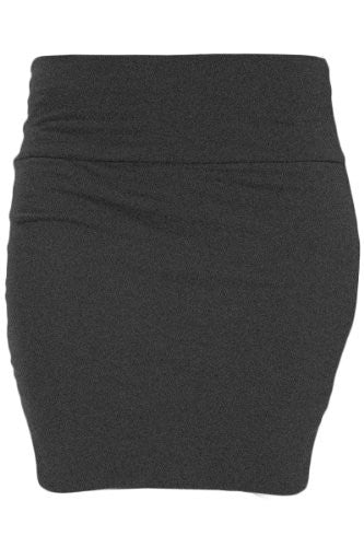 Heart & Hips, Basic Skirt, Charcoal, Large
