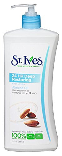 St Ives Body Lotion 21oz 24Hr Deep Restoring Almond Oil