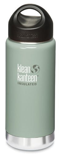Klean Kanteen Wide Mouth Insulated Water Bottle with Loop Cap,16 Ounces,River Rock
