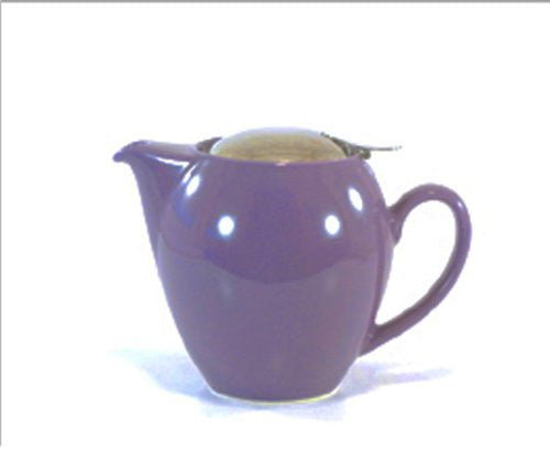 Bee House Ceramic 22 Ounce Round Teapot (Eggplant)