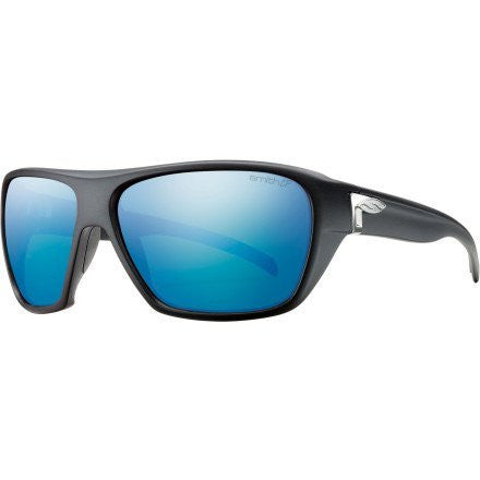 Smith Optics Chief Sunglasses - Matte Black Frame with Polarized Blue Mirror Lens