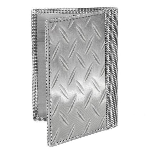 Driving Wallet - Texture: Diamond Plate - Silver