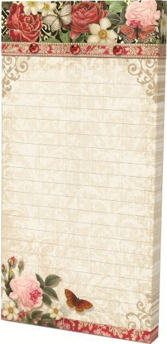 Embellished Magnetic List Pads, Butterfly Rose