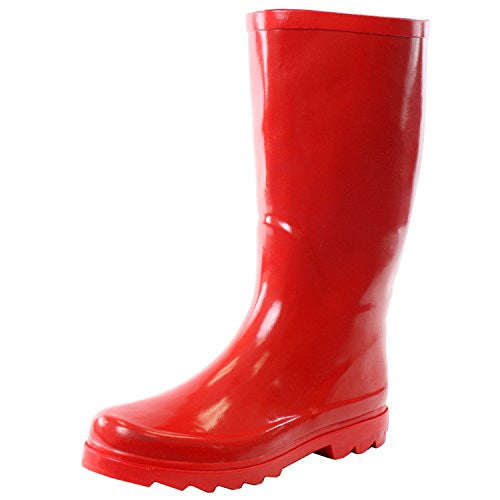 Wholesale Women's Rain Boots - Red, Size 6