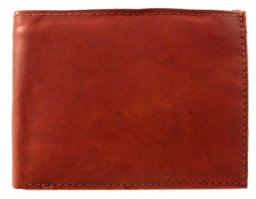 Genuine Leather Bi-fold Mens Wallet - Style mw758CF