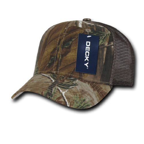 Realtree Camo Curve Bill Trucker, RealTree/RealTree/Brown