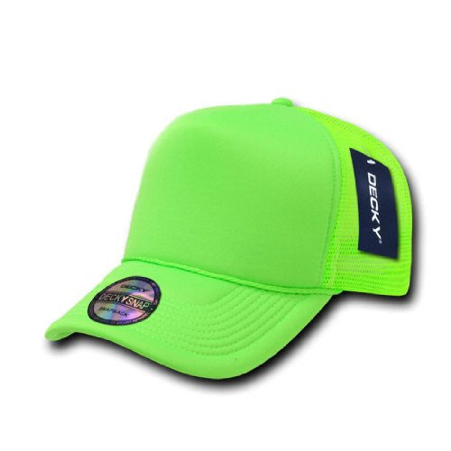 Solid Color Neon Trucker Cap, Green