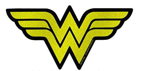 "Wonder Woman Glittery W Logo- 6"" x 3"" Die Cut Sticker"