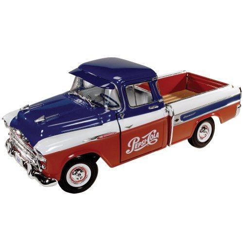 Auto World Pepsi-Cola - Chevy Cameo Pickup Truck (1957, 1/18 scale diecast model car)