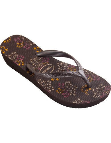 Havaianas Women's High Light Flip Flop, Dark Brown,39