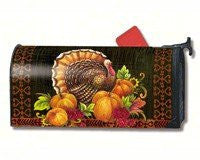 "Give Thanks Turkey Mail Wrap,6.5"" x 19"" Mailbox"