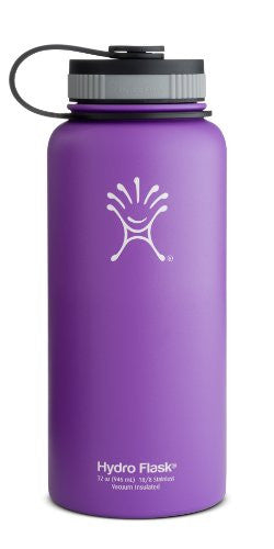 Hydro Flask Insulated Wide Mouth Stainless Steel Water Bottle, Acai Purple, 32-Ounce