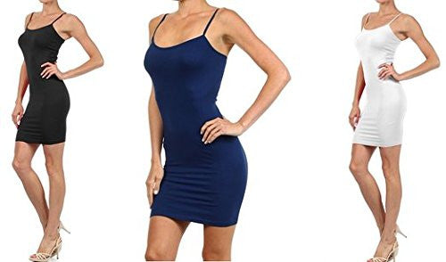 Yelete Lola's Seamless Dress - Navy, Black & White, Pack of 3