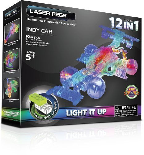 Laser Pegs 12-in-1 Indy Car Building Set