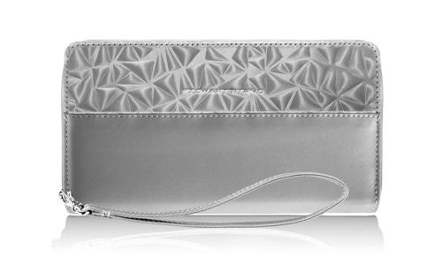 Zipper Travel Wallet : Shatter - Grey