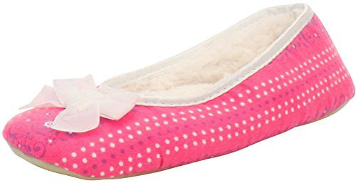 Floral Dottie Pink Slipper, X- Large
