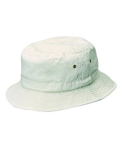 Dorfman Pacific Unisex Cotton Summer Bucket Hat (Putty / Large/X-Large)