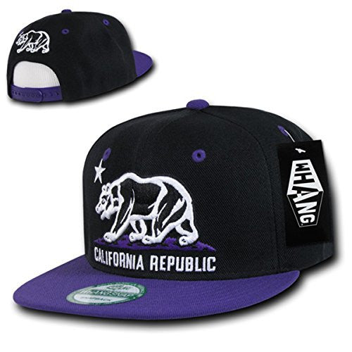 WHANG Snapbacks (Black/Purple)