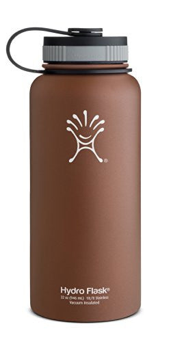 Hydro Flask Insulated Wide Mouth Stainless Steel Water Bottle, Copper Brown, 32-Ounce
