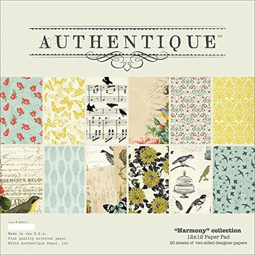 "Authentique Paper Pad 12""X12"" 20/Pkg Harmony"