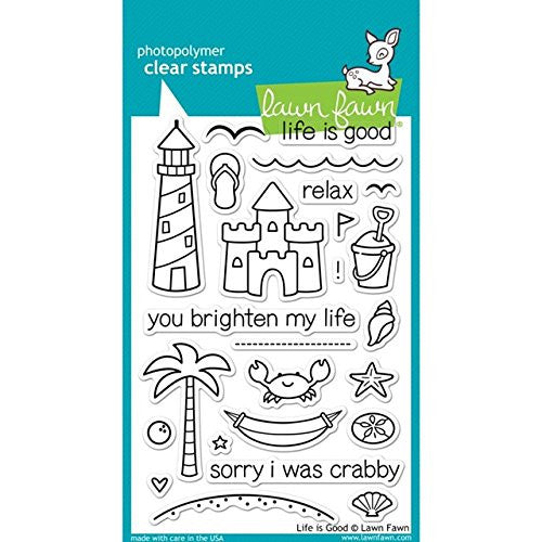 "Lawn Fawn Clear Stamps 4""X6"" Life Is Good"