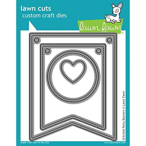 Lawn Fawn Lawn Cuts Custom Craft Die Stitched Party Banners