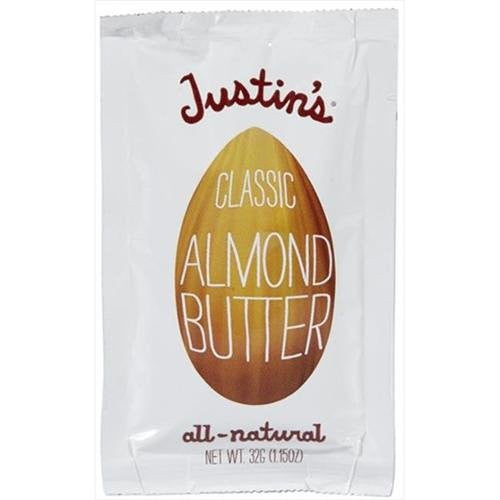 Justin's Nut Butter Squeeze Packs, Classic Almond Butter, Natural 1.15 OZ