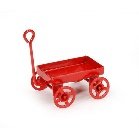 Miniature - Red Toy Wagon - 1 inch