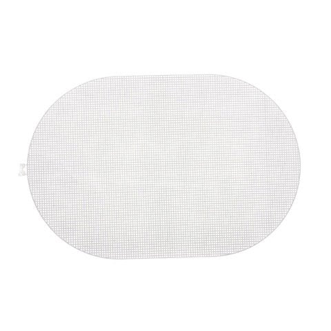 #7 Mesh Plastic Canvas - Clear Oval - 12 x 18