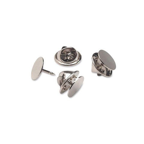 Tie Tacks with Clutch - Nickel Plated Steel - 10mm