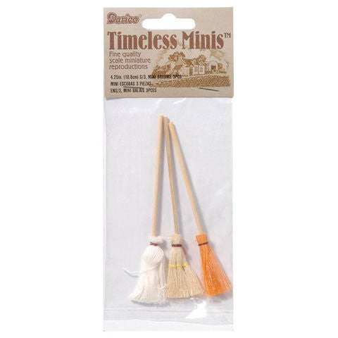 Miniature - Mops and Brooms - 4.5 inches - 3 pieces