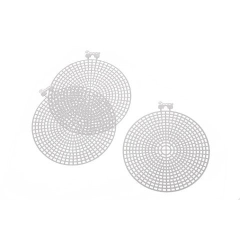 Plastic Canvas Shape - Round - 4.5 inches - 10 pieces