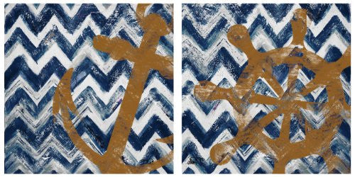 Occasions Coaster Set - Nautical Chevrons