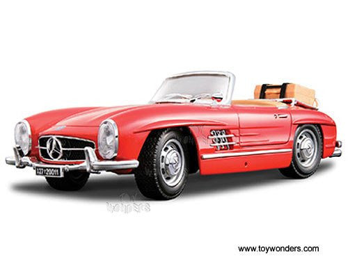BBurago - Mercedes-Benz 300 SL Touring Convertible (1957, 1/18 scale diecast model car, Red)