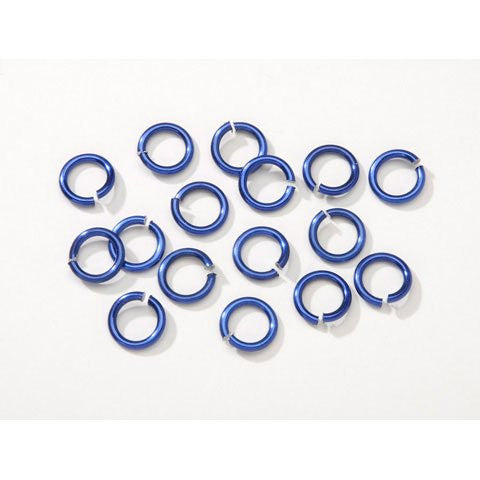 Chain Maille Aluminum Jump Rings - Majestic Blue - 10mm