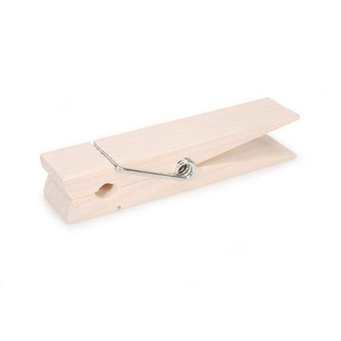 Clothespin - Spring - Natural - Jumbo - 6 inches, Pack of 6