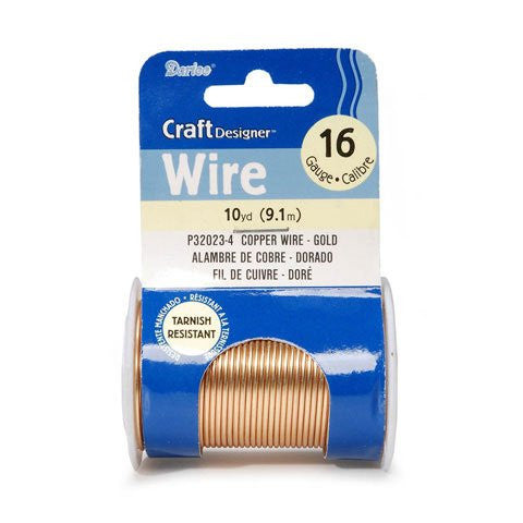 Craft Wire - 16 Gauge - Gold - 10 yards