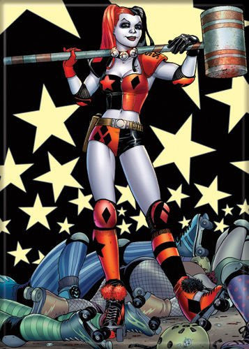 "Harley Quinn With Mallet - PHOTO MAGNET 2 1/2"" x 3 1/2"""