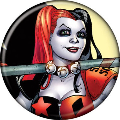 Harley Quinn With Mallet - BUTTONS 1 1/4 in. ROUND