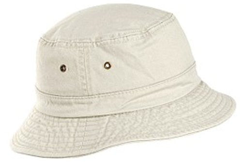 Dorfman Pacific Unisex Cotton Summer Bucket Hat (Putty / Large/X-Large / 22 3/4-23 1/8 Inches)